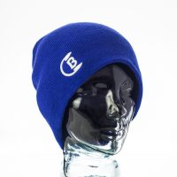 CozyB - Classic Blue Beanie Headphone Front View